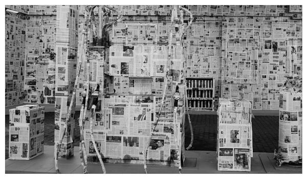 dressed in newspaper (Part II) by bliba