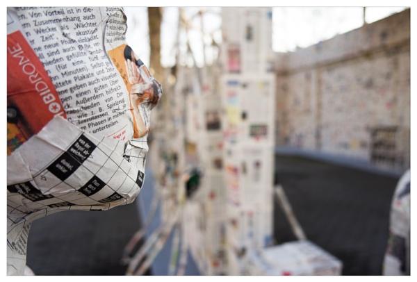 dressed in newspaper (Part III) by bliba