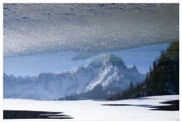 Lake Almsee abstract