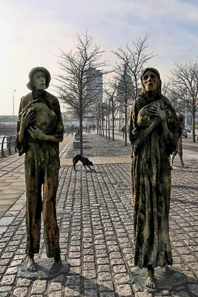 The Potato Famine Sculptures, Dublin by sandwedge