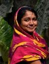 Portrait of Indian woman in village near Barasat,West Bengal. by debu