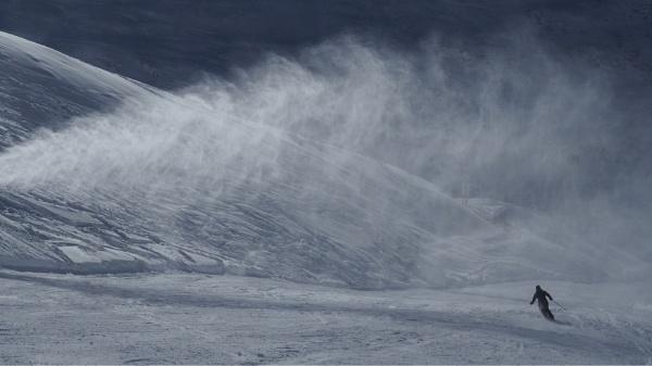 Lone Skier by fredsphotos