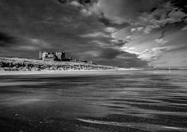 Bamburgh castle from the beach