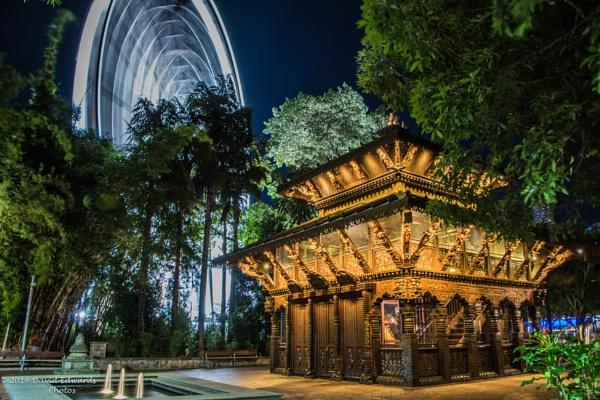Ferris Wheel/Nepalese Pagoda Southbank Brisbane by David2212