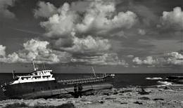 Tanker aground
