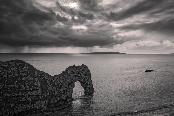 View of Durdle Door on the Isle of Purbeck near Lulworth Cove in Dorset