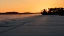 Lohja lake sunset. by kuvailija