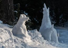 Silly Sunday snow creatures.