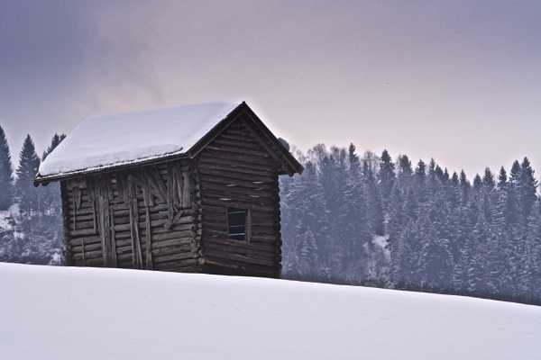 Farmer's hut, Pinzgau valley, Austria