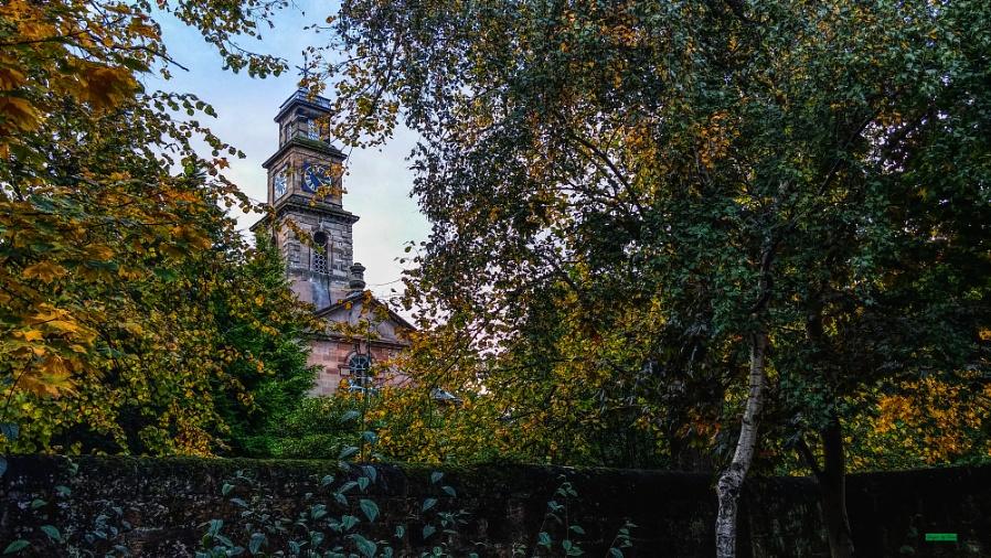 The Church Through The Trees.