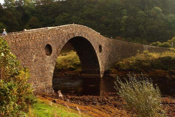 Clachan (Atlantic) Bridge in the Scottish Highlands