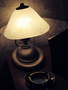 still life with lamp, ashtray and photograph by leo_nid