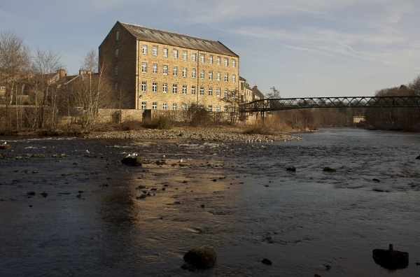 Mill on the River Tees by aitchbrown