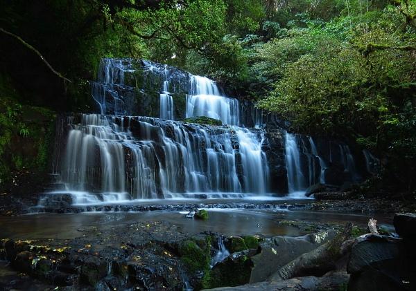 Purakaunui Falls 5 by DevilsAdvocate