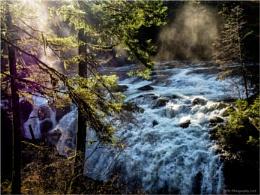 Englishman River Falls Sun Rays