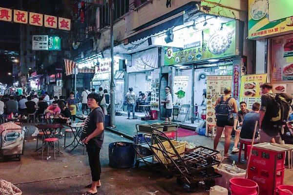 Mid-Night Food Market, Kowloon Hong Kong by manicam