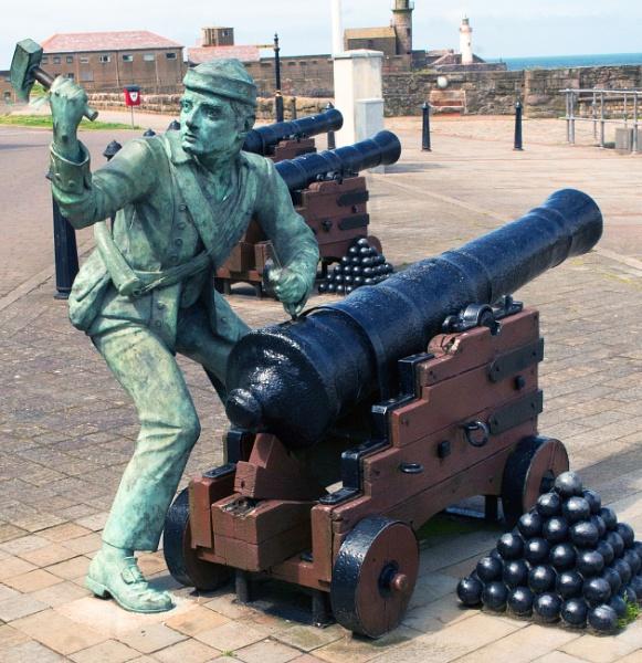 John Paul Jones spiking the guns at whitehaven