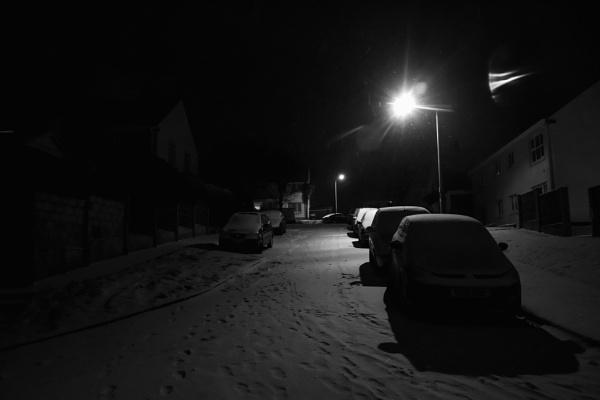 Snowy street by Madoldie