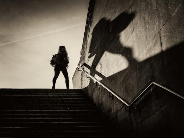 morning shadow by mogobiker