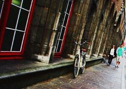 Diagonal con bicicleta.