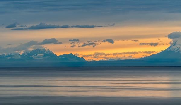 The Sun Sets in Alaska by LarryG