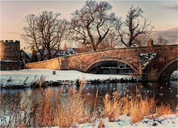 Nungate Bridge in the snow by KingBee