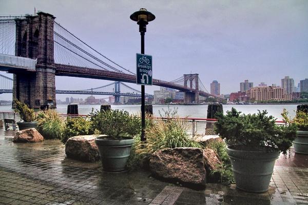 Brooklyn Bridge after a Shower by sandwedge