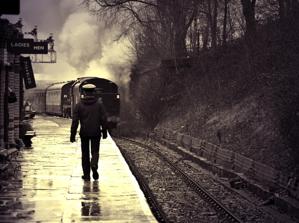 The  train  came  in  from  the   rain