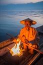 Inle Lake fisherman by edrhodes
