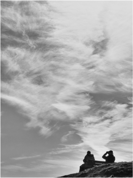 People, pets & skies. by franken
