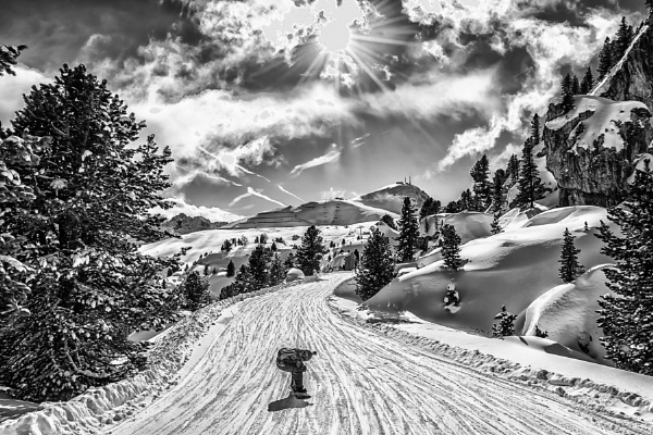 sunny day in the Italian Alps by zdumus