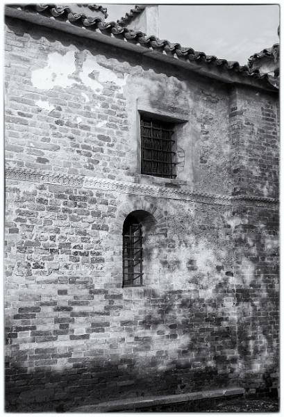 Monastery wall, Torcello, Venice by NevJB