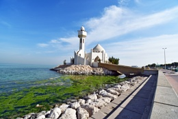 Mosque in the sea