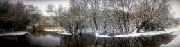 Alver Valley flooded in snow