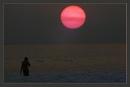 Sunset at Radha nagar Beach by prabhusinha