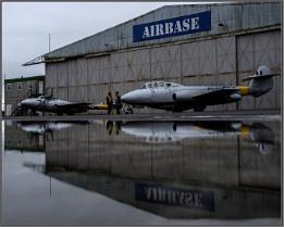 Vampire and meteor aircraft reflections