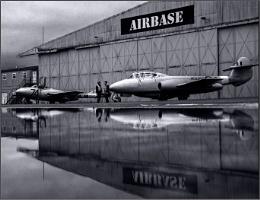 vampire and meteor aircraft reflections mono