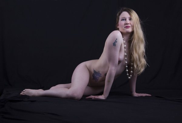 Nude with beads