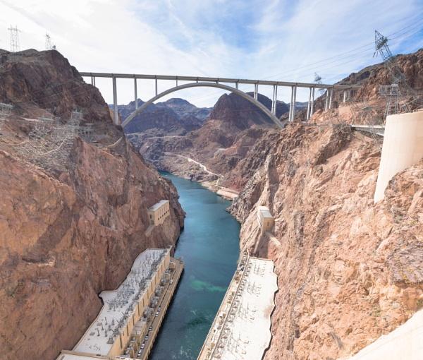 The new bridge at Hoover Dam by Trekmaster01