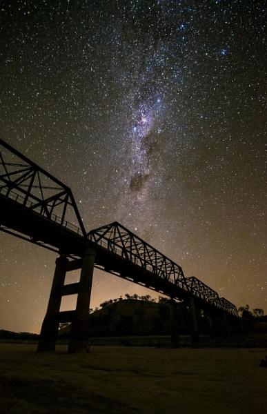 The Milky Way above the Taemas Bridge, Wee Jasper Road, New South Wales by BobinAus