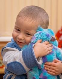 My Toddler Cuddling His Toy
