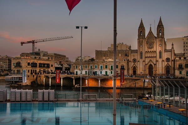 St Julians Pool and Church by AndrewAlbert