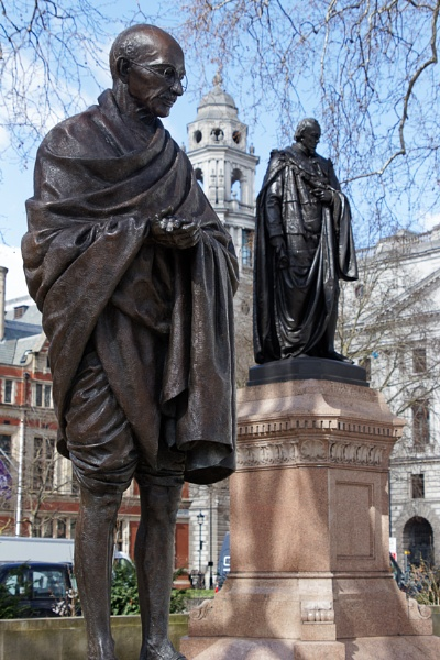 LONDON/UK - MARCH 21 : Monument to Mahatma Gandhi in London on M by Phil_Bird