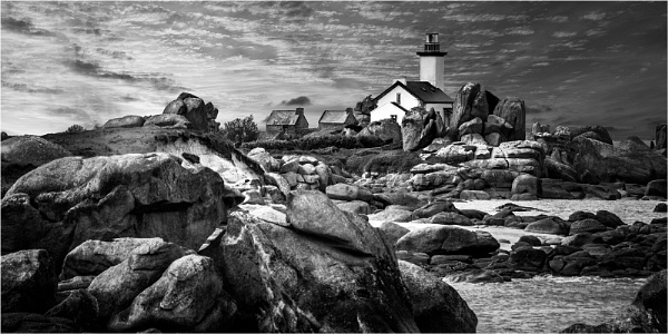 Brittany lighthouse by Dixxipix