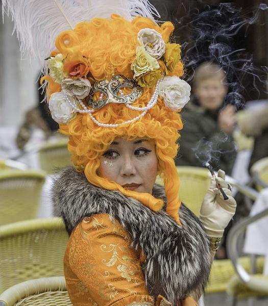 Cigarette Break - Venice Carnival 2018 by nellacphoto