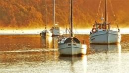 Misty Sunrise on the Fleet