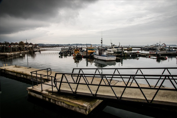 Poole harbour 2, the pontoon. by rambler