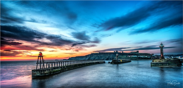 Whitby Pier Sunrise by Pete2453