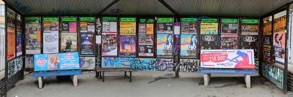 Prague Tram Stop by Owdman