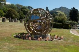 Gyroscope Garden Sculpture